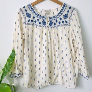 Lucky Brand Embroidered Blouse